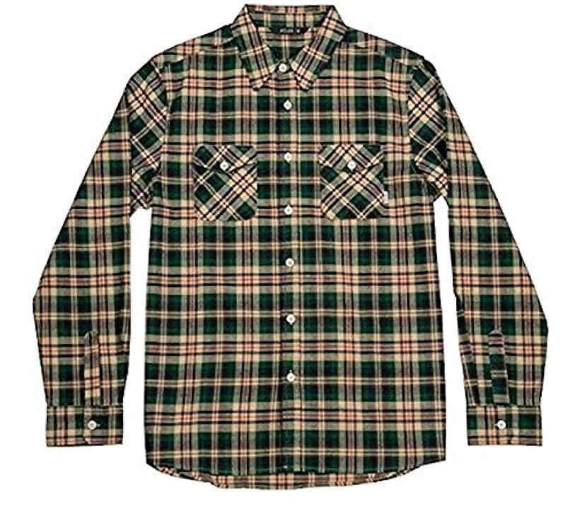 パーティー絶対の水差しPoler Long Sleeve Button Up Shirt Green S ネルシャツ 並行輸入品