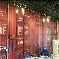 zljtyn異なるサイズ連絡し[ US ] 3dパーソナリティIron Wall PaperコンテナコンテナNostalgicテーマレストランKTVバー壁画壁紙リムーバブル壁画自己粘着Large壁紙 FDH634-65DFN119