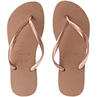 Havaianas Slim Women's Slippers, Rose Gold, 11/12 US
