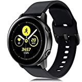 RIOROO Compatible for Samsung Galaxy Watch Active Bands/Active 2 Bands 40mm/42mm/44mm,Women Men Soft Slim Silicone Wristband