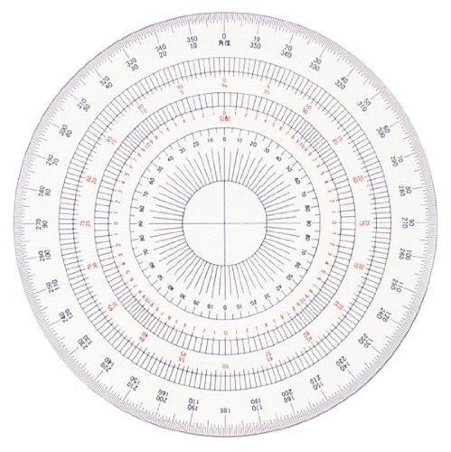 ドラパス 全円分度器 アクリル製 12cm 16511