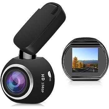 HQBKiNG ドライブレコーダー WiFi 搭載アプリ対応 16Gカード付きドラレコ SONY製センサー ミニ小型車載カメラ 高画質1080P 170度広角 360度回転 駐車監視 暗視機能 上書き機能