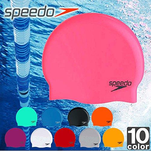 スピード(SPEEDO) 2015年春夏 シリコーン キャップ SD93C03 1412 メンズ レディース K(ブラック) F