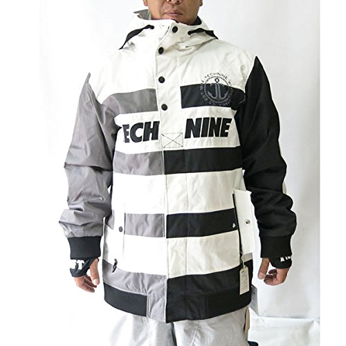 TECHNINE(テックナイン) 13-14モデル 激安サンプル商品 NAUTICAL JKT SHELL (WHITE/BLACK CHACORAL) L