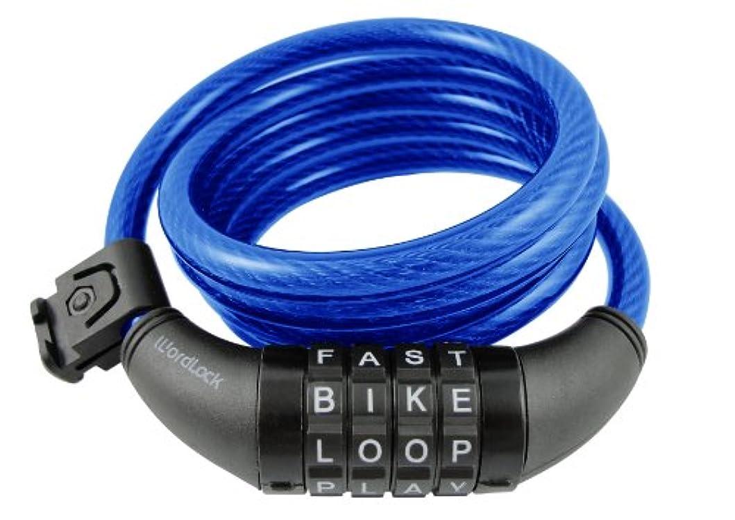 でる骨折租界WORDLOCK CL-409-BL バイクロック4 ブルー