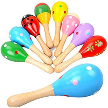 And Children Women Random Color Suitable For Men Original Plastic Sand Hammer Maraca Rattle Shaker Kids Musical Instruments Baby Sound Music Toy 1 Pcs