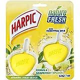Harpic Active Fresh Hygienic Toilet Block CleanerTwin Pack, Citrus, 80 g