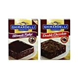 Ghirardelliギラデリー 簡単ブラウニーミックス 2種類セット Brownie mix 2set [並行輸入品]