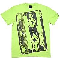 Demo Tape(デモテープ)Tシャツ (ライムグリーン) bk001tee-lm -G- カセット ロック バンド 半袖