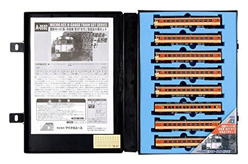 Nゲージ A0592 国鉄キハ91系・冷改車 急行「きそ」 改良品8両セット