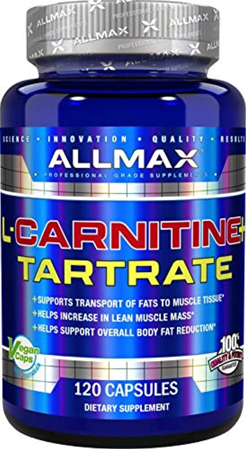 美徳。召集するAllMax Nutrition - L カルニチン + 酒石酸 - 120ビーガン キャップ