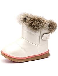 Aleader スノーブーツ キッズ ベビー ブーツ スニーカー 女の子 雪遊び 軽量 防寒 脱ぎ履き簡単
