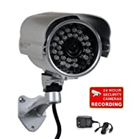 "VideoSecu Bullet Security Camera 700TVL Built-in 1/3"" SONY Effio CCD Weatherproof Day Night 3.6mm Wide View Angle Lens IR for CCTV DVR Home Surveillance System with Bonus Power Supply IR45HE BCO [並行輸入品]"