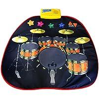 Coolplay 打楽器 音楽おもちゃ 音楽マット 楽器マット 電子ドラム 電子マット 練習 折り畳み式 録音 再生 デモ 70x65cm