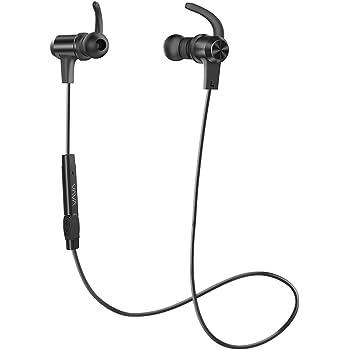 ブルートゥース イヤホン VAVA MOOV 28 Bluetooth ワイヤレス ヘッドホン 8時間連続再生可能 ヘッドセット IPX5防水設計 aptX マグネット内蔵 VA-BH009