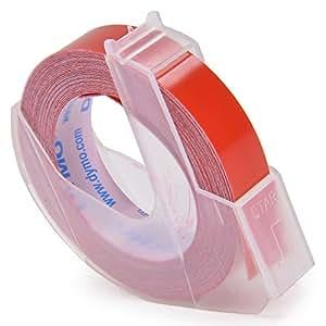 ダイモ テープ 幅9mm×3m巻 つやあり 赤 DM0903RD