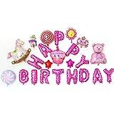 山の奥 風船 誕生日 HAPPY BIRTHDAY 飾り付け 特大 バースデー アルミ バルーン パーティー飾り物セット