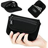 Compact Camera Case Pouch for Sony RX100 VII VA VI V IV III II Canon G7X III II G9X II SX740 SX730 SX720 Ricoh GRIII GR3 GRII Olympus TG-6 TG-5 TG-4 TG-3, w/ Zippered Pocket & Battery Pocket - Black