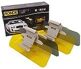 RONDE (ロンデ) 正規品 カーバイザー 2個セット 日よけ 紫外線カット サンバイザー 防眩サンバイザー サングラス 不要