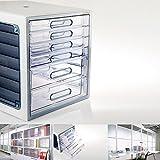 Lux Multi 半透明 ファイル キャビネット 6 引き出し キャビネット 収納 Cabinet Organizer  キャビネット 引き出し File Cabinet 4 Drawers 10006