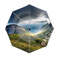 折りたたみ傘 日傘 UVカット 晴雨兼用 軽量 ピラトゥス山スイス 防風傘 紫外線対策 スカイスター傘 ポータブル レディース