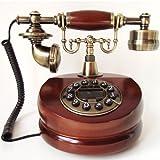 アンティーク電話機 201 ヨーロッパ風 装飾電話機 プッシュ式 骨董品 クラシック レトロ調 電池不要
