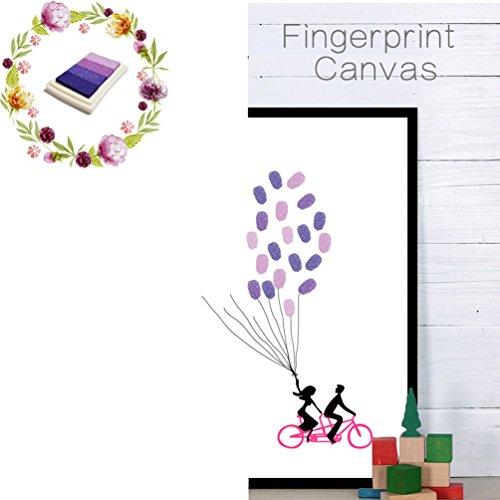 [해외]VANCORE 방명록 웨딩 방명록 웰컴 지문 트리 참석 로그인 웨딩 서명 캔버스/VANCORE Guest Book Wedding Honorable Welcome Board Fingerprint Tree Attendance Signature Wedding Signature Canvas
