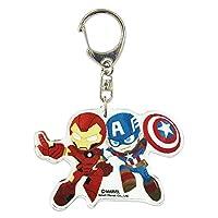 マーベル アクリル キーホルダー Captain America & Iron Man SPKC1151