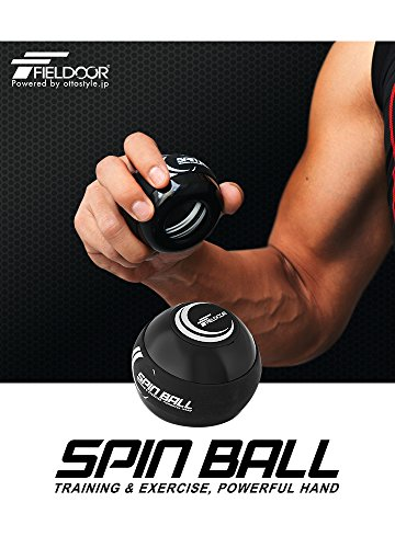 FIELDOOR スピンボール リストボール 自動回転 オートスタート 握力 手首 前腕 トレーニング エクササイズ 筋トレ