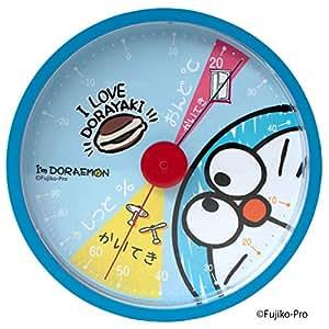 ティーズファクトリー 温度計 ブルー 120×120×30mm I'm Doraemon アナログ温湿度計 ID-5558129BL