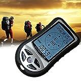 デジタルコンパス A-leaf 登山コンパス デジタル高度計 携帯気圧計 夜間使用可能 天気予報付き 羅針盤 カレンダー 超軽量