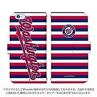 AQUOS PHONE SERIE SHL23 手帳型 ケース [デザイン:30.ナショナルズ/マグネットハンドあり] MLB公認ライセンス 30チーム アクオス スマホ カバー