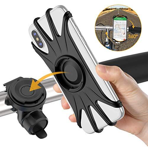 VUP 自転車ホルダー スマホホルダー 取り外し可能 4-6.5インチiPhone/Android全機種に適用 360度回転 振れ止め メーカー直営 黒