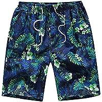 Heaven Bird Men's Printing Quick Dry Beach Shorts Swim Trunk