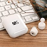 AiSam X3T Bluetooth イヤホン 完全ワイヤレス イヤホン スポーツ 高音質 ブルートゥース イヤホン 片耳 両耳とも対応 左右分離型 ワンボタン設計 マイク内蔵 通話可 防水 充電式収納ケース付 iPhone Android 対応 X3T改良版(ホワイト)