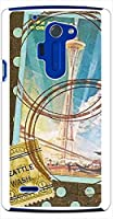 ohama LGL24 isai FL イサイ ハードケース ca731 スタンプ 切手 ドット 水玉 スマホ ケース スマートフォン カバー カスタム ジャケット au
