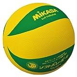 ミカサソフトバレーボールイエローグリーン 小学校ソフトバレーボール試合球 1~4年生用 MS-M64-YG