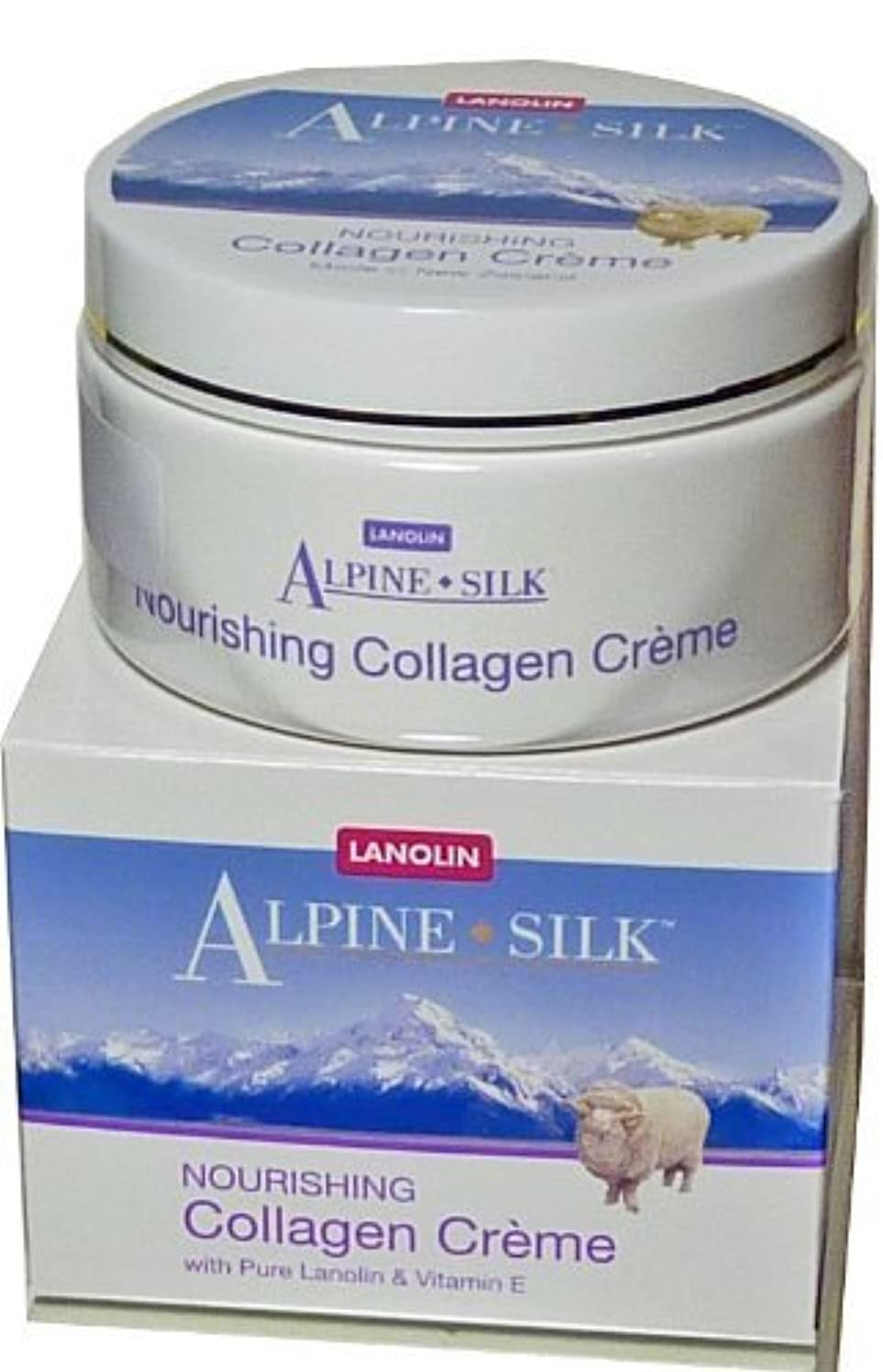 有毒崩壊賢いAlpine Silk Lanolin Collagen Cream (250 gr/8.81 oz) by Alpine Silk [並行輸入品]