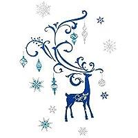 (ヘヴン・センズ) Heaven Sends クリスマス トナカイ ウォールステッカー デコレーション 飾り (50x70cm) (ブルー)