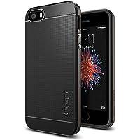 【Spigen】 スマホケース iPhone SE ケース / iPhone5s ケース / iPhone5 ケース 対応 二重構造 バンパー 米軍MIL規格取得 耐衝撃 ネオ・ハイブリッド 041CS20184 (ガンメタル)