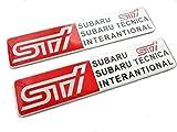 STI アルミプレート エンブレム スバル ラリー 2枚SET 外貼り・曲面貼り可能