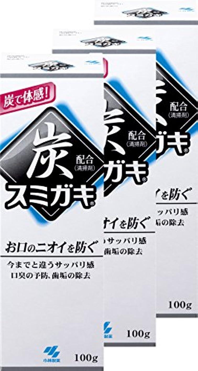 親知的変更【まとめ買い】スミガキ 炭配合(清掃剤) 口臭予防 歯みがき ハーブミントの香り 100g×3個
