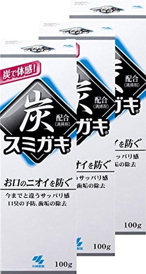 盟主ダニしっとり【まとめ買い】スミガキ 炭配合(清掃剤) 口臭予防 歯みがき ハーブミントの香り 100g×3個