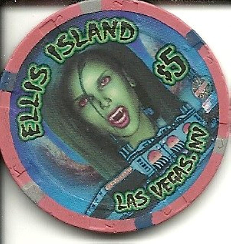 エリス島ハロウィン2010ラスベガスカジノチップ$ 5