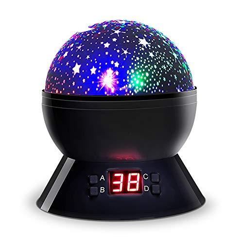 ベッドサイドランプ スタープロジェクター 投影ランプ プラネ...