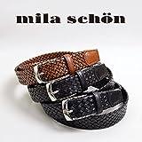 (ミラショーン) Mila schon 本革ベルト 35402-109 19(ダークブラウン)