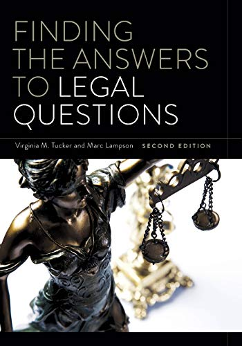 Download Finding the Answers to Legal Questions 0838915698