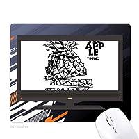 果実はpineappleトレンドラインを描画する ノンスリップラバーマウスパッドはコンピュータゲームのオフィス