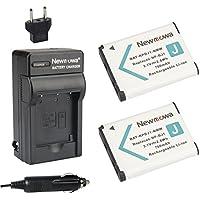 Newmowa NP-BJ1 互換バッテリー 2個 + 充電器 対応機種 Sony NP-BJ1 Nikon EN-EL19 Sony DSC-RX0