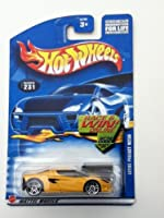 2001 - Mattel - Hot Wheels - Lotus Project M250 (Yellow) Collector #231 - 5 Spoke Wheels - Tinted Windows - Race & Win